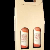 Κουτί Μπουκαλιού Διπλό Εκρού