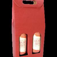 Κουτί Μπουκαλιού Διπλό Μπορντώ